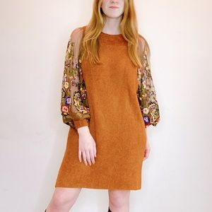 Free People embroidered sweater dress